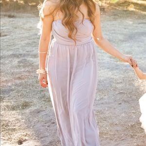 Lulus Gray Strapless Dress Size Small